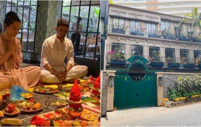 Kangana Ranaut inaugurates production house, see photos and videos