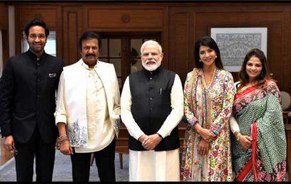 Mohan Babu family meets PM Modi