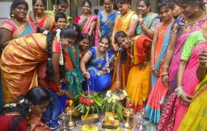 Cooperative college students, employees celebrate Pongal
