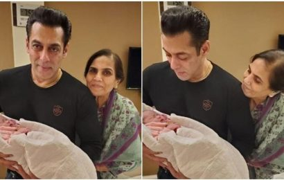 Salman Khan poses with niece Ayat in his arms, Arpita Khan Sharma says, 'these hands are god sent'. See pics