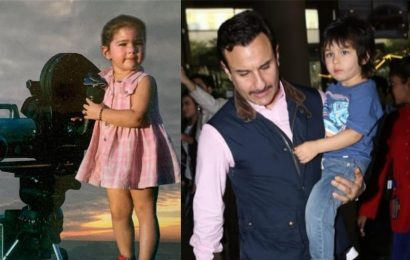 Sara Ali Khan shares unseen childhood picture, fans call her 'Taimur's female version'. See it here