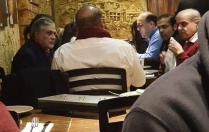 Sharif's viral UK restaurant photo invites opposition questions over his illness
