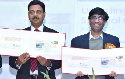 A special cover and stamp released by IIT Kanpur