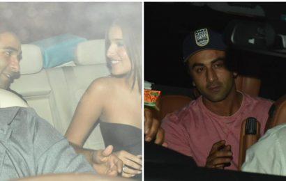 Rumoured couple Tara Sutaria-Aadar Jain arrive together at Saif Ali Khan-Kareena Kapoor's party, Ranbir Kapoor keeps it casual