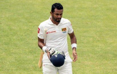 Angelo Mathews steadies Sri Lanka in pursuit of big first innings lead