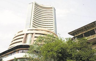 Sensex drops over 200 points, Nifty tests 12,200; Rupee dips 6 paise against US dollar