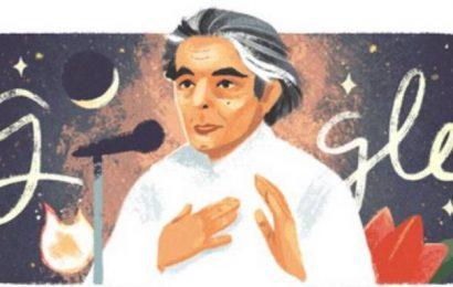 Google doodle celebrates Kaifi Azmi, poet and songwriter