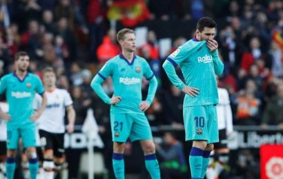 Barca overpowered by rampant Valencia for first defeat under Setien