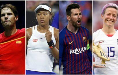 Laureus Awards: Rafael Nadal, Naomi Osaka up against Lionel Messi, Megan Rapinoe