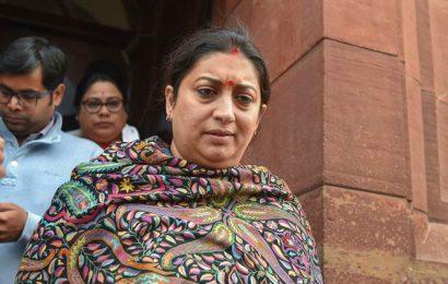Smriti Irani takes jibe at Congress, says post of party president 'family matter'