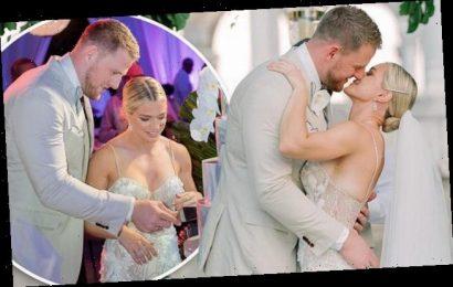 J.J. Watt shares pictures from his Bahamas wedding to Kealia Ohai