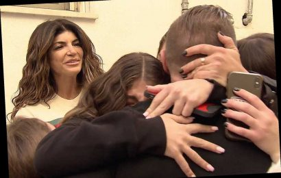 Here's the first look at Teresa and Joe Giudice's awkward reunion in Italy