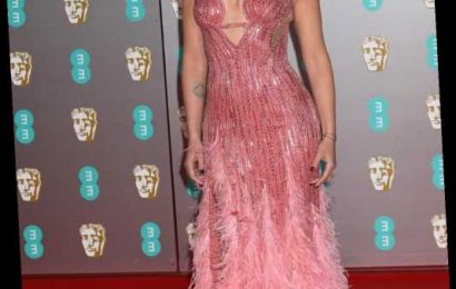 Scarlett Johansson in Versace at the BAFTAs: shockingly good or too 'showgirl'?