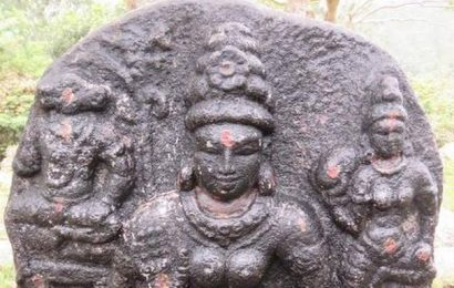 Three sculptures found in Kolli hills