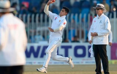 Naseem youngest to take Test hat-trick as Pakistan close on victory