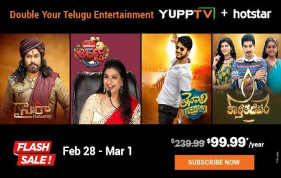 Flash Sale: Price Slashes on YuppTV+Hotstar Combo Packages