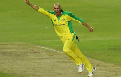 PIX: Agar hat-trick helps Australia thrash SA in first T20