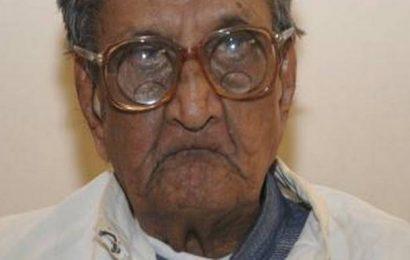 Centenarian scholar Sudhakar Chaturvedi passes away