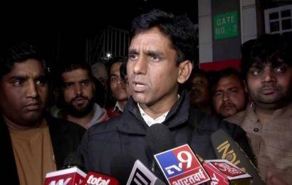 Watch   Shots fired at AAP MLA Naresh Yadav's convoy