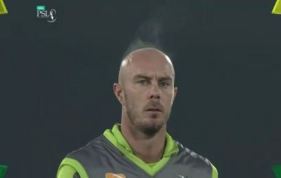 PSL: Video of Chris Lynn's steaming head after getting out goes viral