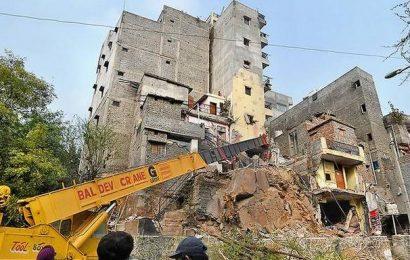 Scores evacuated for razing six-storey structure near JNU