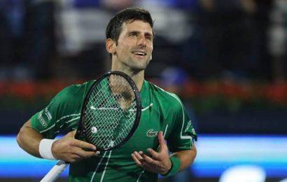 Novak Djokovic continues hot streak with opening win in Dubai