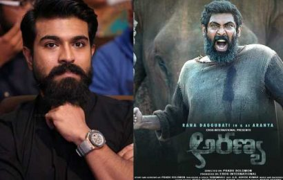 Ram Charan in awe of Rana Daggubati transformation