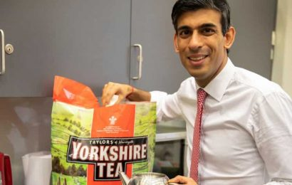 Britain's finance minister Rishi Sunak in Twitter storm over a tea brand