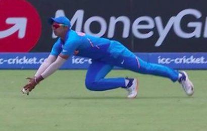 India vs Pakistan U19 World Cup semi-final:Divyansh Saxena pulls off stunner, silences crowd with celebration – Watch