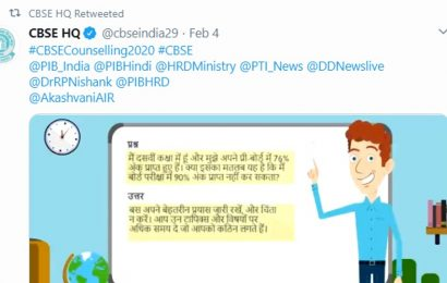 CBSE starts pre- exam counselling session on Twitter, Facebook and other platforms