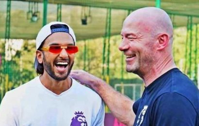 Ranveer Singh has a fanboy moment with English footballer Alan Shearer, dubs him 'footballing royalty'. See pics