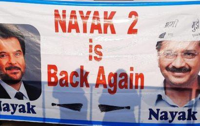 'Nayak 2 is back again,' reads poster at Arvind Kerjiwal's swearing-in venue