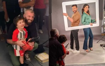 Kareena Kapoor-Saif Ali Khan shoot for an ad with Taimur in tow, Deepika Padukone reacts 'steal him', see pics