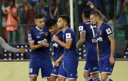 Chennaiyin shock FC Goa with four goals to hold advantage in semi-final first-leg