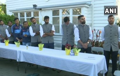 Team India visit Indian High Commission in Wellington; see pics