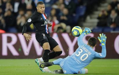 PSG thrash Montpellier who have two sent off as tempers flare