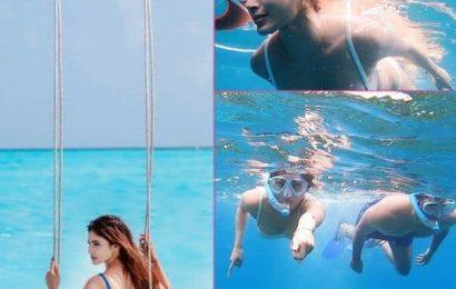 समंदर की गहराईयों में Valentine's Day मना रही हैं Mouni Roy, पानी के बीच करती दिखीं किसी का इंतजार