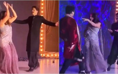 Karan Johar hijacks Shah Rukh Khan's performance at Armaan Jain's wedding reception