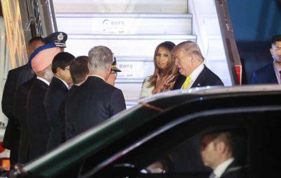 US President Donald Trump reaches Delhi for main leg of maiden India visit