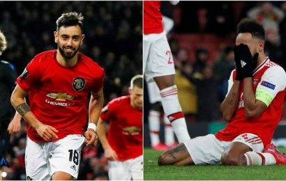 UEL: United, Inter advance to last 16; Arsenal, Ajax, Porto, Benfica out