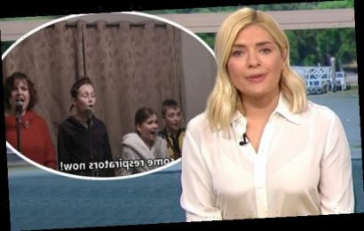 Holly Willoughby is left in tears on This Morning by viral video