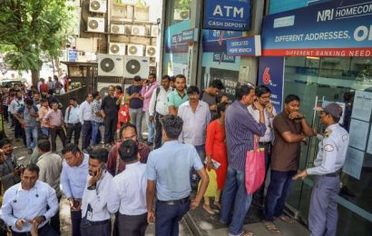'We are being told a server crash stalled the ATMs'