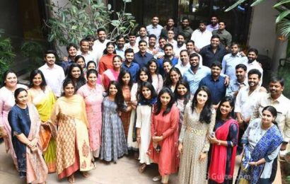 Lokesh-Brahmani hosts lunch to young leaders of TDP