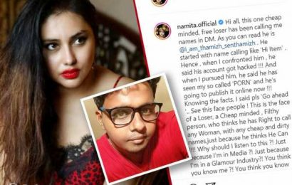 Namitha Exposes Guy Who Called Her Porn Star