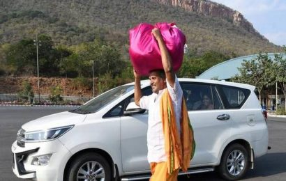 For a change, the Lord's curtains reach Tirumala by road!