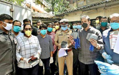 4 held for hoarding over 25 lakh masks