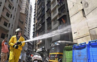 'Don't spray disinfectants on premises'