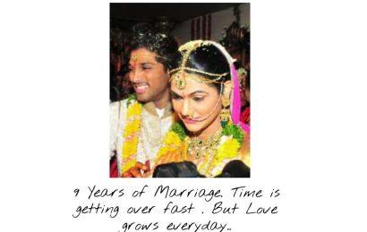 Allu Arjun: 9 years of his marriage Allu Arjun : 9 years of his marriage
