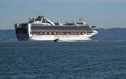 Virus-hit cruise ship docks in California port of Oakland