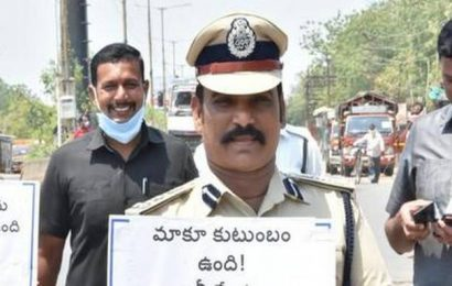 Ramagundam police walk the streets to educate people about self-isolation